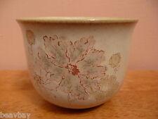 Vintage DENBY SANDALWOOD MAPLEWOOD 9cm Open Sugar Bowl Floral Brown Stoneware UK