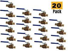 Plumbing Lot 20pcs 34 Pex Brass Full Port Water Stop Shutoff Ball Valve Lf Upc