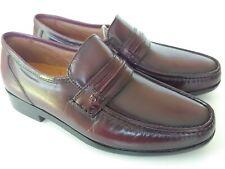 French Shriner Dayton Burgundy Leather Dress Slip-On Loafer Men Shoes Size 9.5 D
