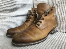 Rugged Attractive Furlined Leather Tan Portugues Boots In good Condition Bargain