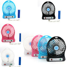 Portable Handheld Rechargeable USB Desk Pocket Cooler Mini Fan+18650 Battery UK