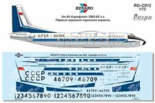 Revaro Decal An-24 Aeroflot retro First series coloring for A-model 1/72