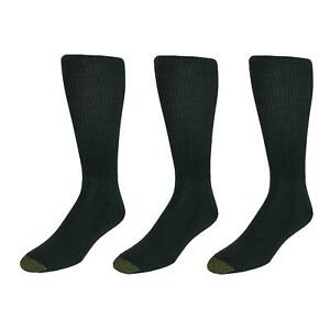 New Gold Toe Men's Extended Size Fluffies Dress Socks (3 Pair Pack)