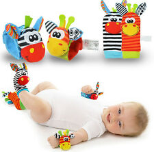 Infant Toy Baby Wrist Bands Socks Rattle Sensory New Born Child Rattling Sound