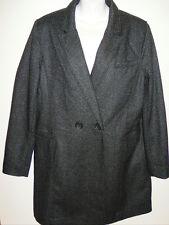 NWT Women's Banana Republic Wool Lined Herringbone Long Dress Coat Large NEW