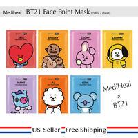 Mediheal BT21 Face Point Mask for All Members + Free Random Sample
