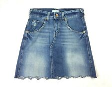 Levis Womens Jean Pencil Mini Cut Off Skirt Sz 3 Medium Wash Blue Denim Pockets