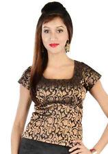 Black Choli Sari Blouse Indian Saree Shirt Bollywood Top Belly Dance Choli