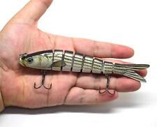 """5.5"""" Multi Jointed Fishing Lure Bait Swimbait Life-like Herring Bass Pike Muskie"""