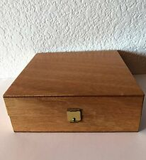 """Wooden Cigar """"Humidif"""" Humidor- Cleaning System Included 6.5 x 6.5 x 2.5"""