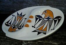 Vintage Hand Painted Hopi / Acoma Indian Eagle Pottery Ashtray Signed D.T.