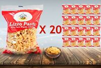 A BOX OF 20 OF LIZZO BOWTIE PASTA MAKARNA SPAGHETTI 450 GR (9 KG)