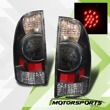 2005-2015 Toyota Tacoma Pickup LED Black Brake Tail Lights Rear Lamps Pair