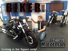 American Diorama - Biker figure - Motorman - 1:18 G scale   AD 23867
