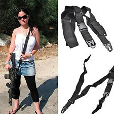 TACTICAL 3 POINT RIFLE SLING ALLOY CLASP HUNTING ADJUSTABLE BELT STRAP  MODISH