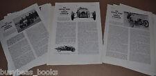 1965 MORGAN 3-WHEELER articles from British magazine, info, specs etc 26 photos