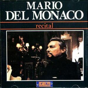 Mario Del Monaco - Recital  -  CD, VG