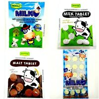 ROSCELA Milk & Malt Tablet Sweetened Cocoa Flavour Healthy Candy Aromatic Yummy