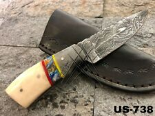 AMERICANO CUTLERY CUSTOM MADE DAMASCUS STEEL HUNTING FULL TANG KNIFE - US-738