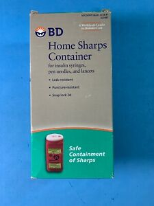 Bd Home Sharps Container For Insulin Syringes New 1.4qts