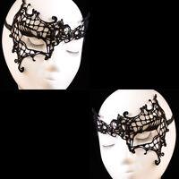 New Sexy Black Lace Venetian Mask Masquerade Ball Costume Halloween Fancy Dress