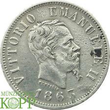 Y413) Italia Vittorio Emanuele II. 1861-1878 50 cemtesimi 1863 NBN