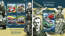 BMW Automobiles Cars Motorcycles Transport Sao Tome and Principe MNH stamp set