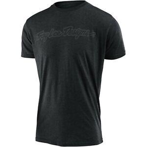 Troy Lee Designs T-Shirt Tee TLD Mx Bmx Mtb Dh Gear Signature Heather Charcoal