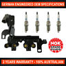 4x Genuine NGK Spark Plugs & Ignition Coil Pack for Hyundai Accent Getz Kia Rio