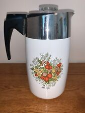 """Vintage Corningware Electromatic 10 Cup Percolator E-1210-8 """"Le Cafe"""" Not Recall"""