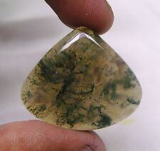 36.45 CTS NATURAL MOSS AGATE CABOCHON HEART SHAPE LOOSE GEMSTONE A 5144