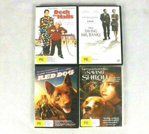 Saving Shiloh, Red Dog, Saving Mr Banks, Deck The Halls 4 x Family DVD Pack