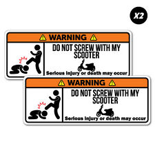 2x Warning Scooter Motorcycle Motorbike Sticker Funny Car Stickers Novelty De...