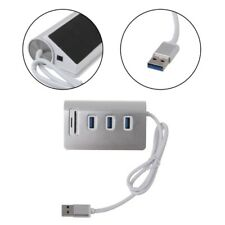 USB 3.0 Hub 3 Port Power Interface TF SD Card Reader For iMac MacBook Air Laptop