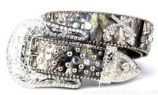 Western Leather Wide Camo Belt with Rhinestones & Pistols - M/L New - BCM011-1
