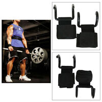 Weight lifting Power Hooks Bar Wrist Support Straps Gym Gloves Training Pull Up