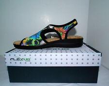 Flexus by Spring Step Women's BLACK Nyaman-Bouquet SZ 8 1/2 (US) Sandals NWT