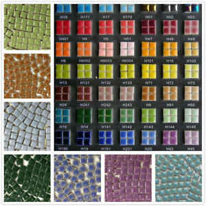 100 Pcs DIY Square Mosaic Tiles Colored Ceramic Craft Art Decoration
