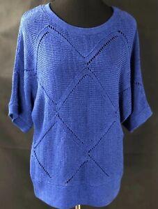 ALYX Women's  Sweater, size L Cobalt Blue,  americana girl, basic