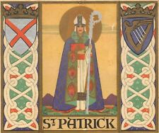 More details for late victorian or 1900s  st patrick christmas card ! rare william morris type ?