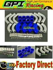 "2"" 51MM Aluminum 12PCS Universal Intercooler Turbo Piping blue hose kit"