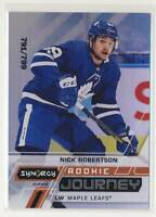 2020-21 Synergy Rookie Journey Home #RJNR Nick Robertson Toronto Maple Leafs BX3