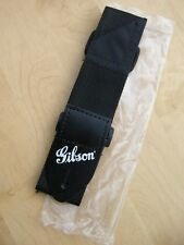 Gibson Black Leather GUITAR STRAP for Les Paul Classic SG Gold Logo