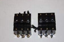 LOT OF 2 Idec NRBM3100 Circuit Breaker 3-Pole 40A Protectors 250VAC