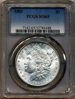 1883 Morgan PCGS MS-65 Bright Blast White Silver Dollar Coin Philadelphia Mint