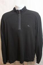 Tommy Bahama Black Long Sleeve Shirt 1/4 Zip Size Large Sailfish Logo