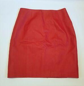 Vintage David Hollis red leather mini pencil skirt 80s 90s y2k rock n roll vamp
