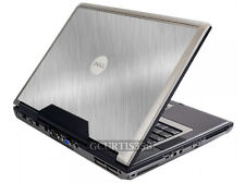 BRUSHED ALUMINUM Vinyl Lid Skin Cover Decal fits Dell Precision M90 M6300 Laptop