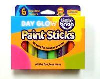 LITTLE BRIAN Paint Sticks Dayglo Colours 6 Assorted