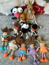 11x Stofftier / Kuscheltier/ Schlüsselanhänger *Hase, Zebra, Hund, Löwe, Mädchen